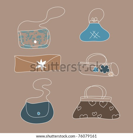 nice bag set - stock vector