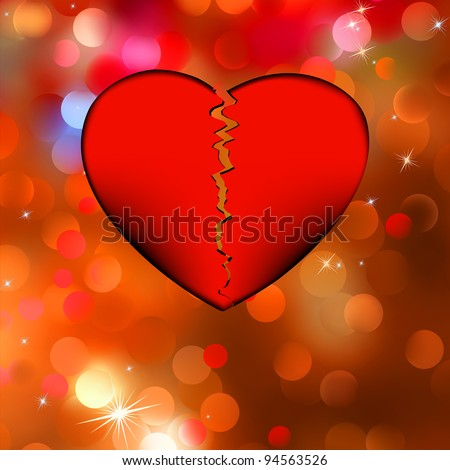 Nice bokeh broken heart. EPS 8 vector file included - stock vector