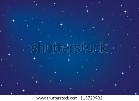 nice bright stars in the night sky, vector eps10 - stock vector