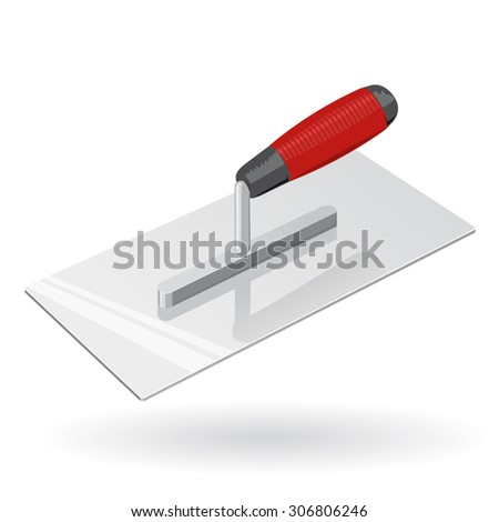 Nice four-sided stucco Trowel for Plaster - Construction Tools - Vector - stock vector