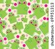 Nice frog seamless - stock vector