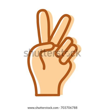 Nice Hand Peace Love Symbol Stock Vector 703706788 Shutterstock