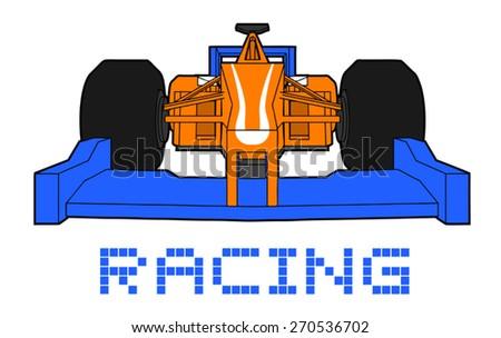 nice racing car - stock vector
