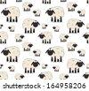 Nice texture of cartoon sheeps - stock
