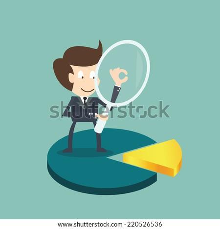niche market concept - stock vector