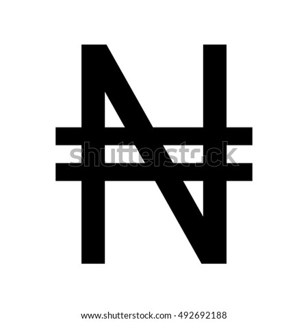 Nigerian Naira Currency Symbol Stock Vector 492692188 ...