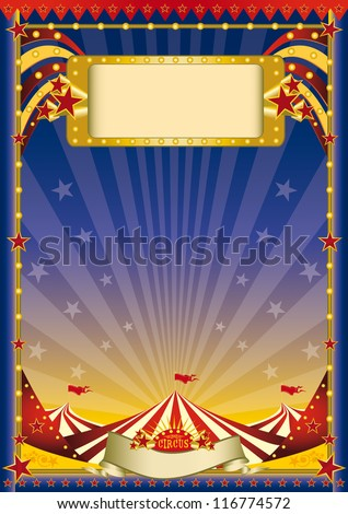 Night circus flyer. A night circus poster with a big top for your advertising