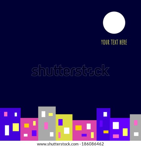 Night city background - stock vector