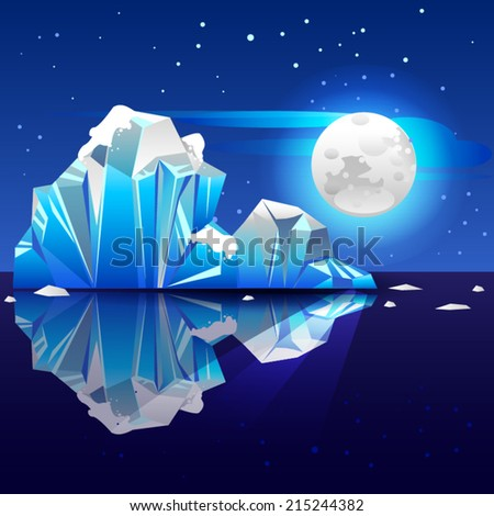 Night iceberg