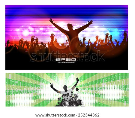Night party background. Vector  - stock vector