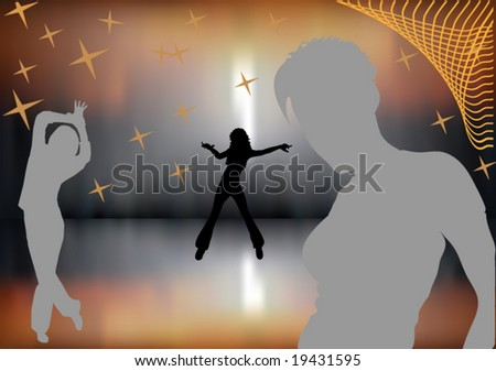 night party girls - stock vector