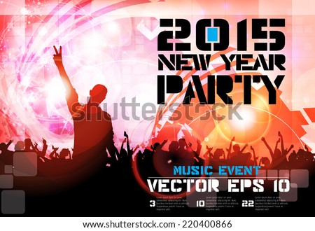 Night party, vector - stock vector