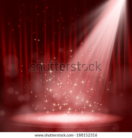 Night red performance. Vector illustration. EPS 10 - stock vector