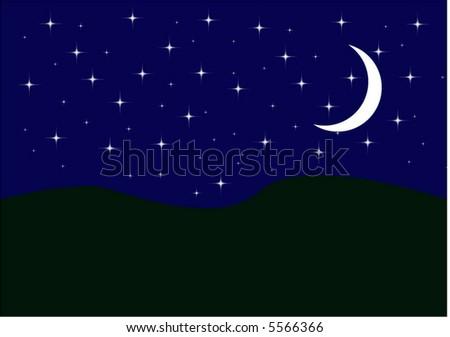 night scape - stock vector