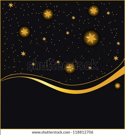 night sky dark background, vector - stock vector