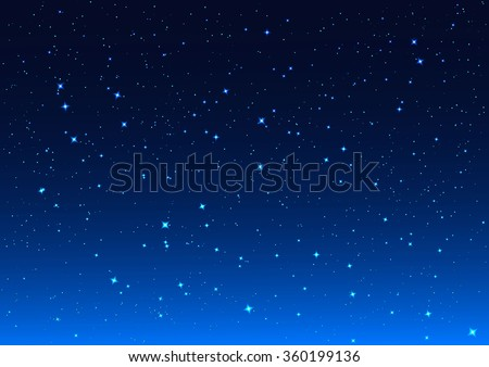 Night sky. Stars in night sky. Background illustration vector format - stock vector
