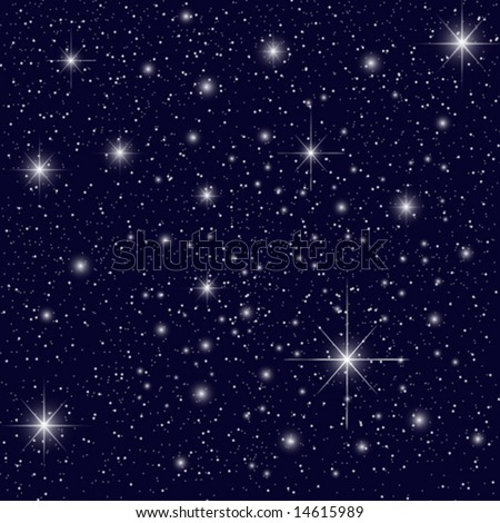 Night Sky with Stars - stock vector