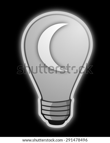 night symbol. light bulb.