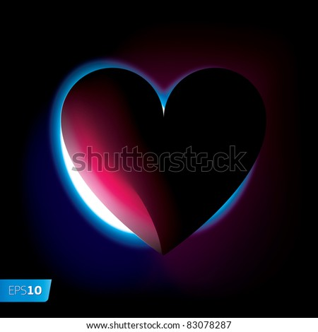 Night time for love. Vector image