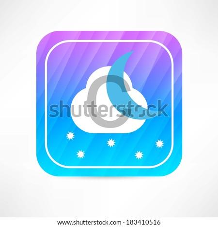 night weather forecast icon - stock vector