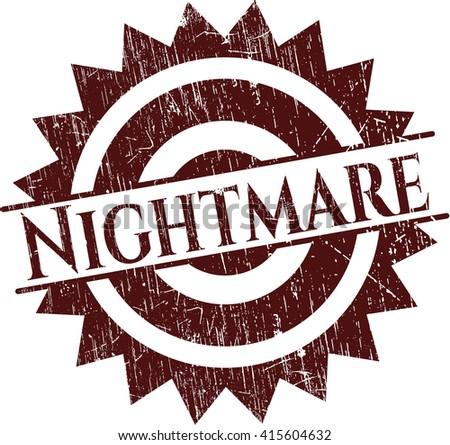 Nightmare grunge stamp - stock vector