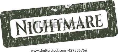 Nightmare rubber seal - stock vector