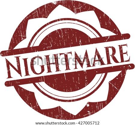 Nightmare rubber texture - stock vector