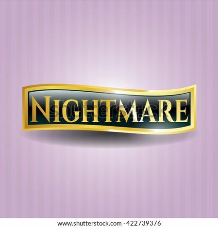 Nightmare shiny emblem - stock vector