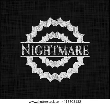 Nightmare written on a chalkboard - stock vector