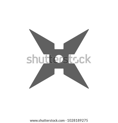 Ninja Star Weapon Icon Trendy Flat Stock Vector 2018 1028189275