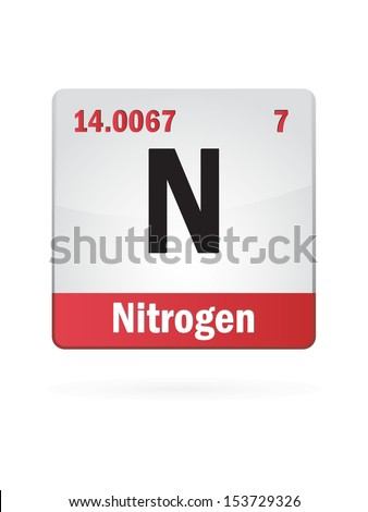 Nitrogen Symbol Illustration Icon On White Background - stock vector