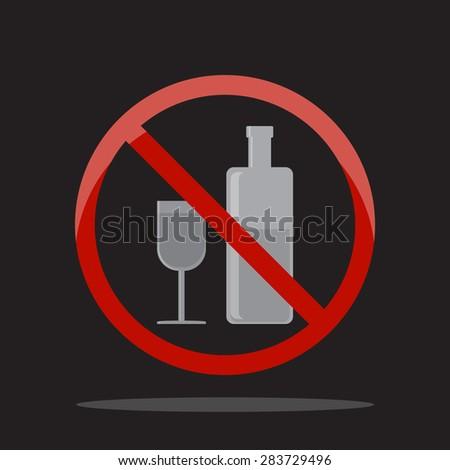 No alcohol sign. - stock vector