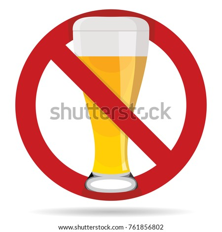 No Beer Sign Symbol No Alcohol Stockvector 761856802 Shutterstock