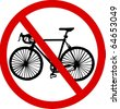 No bicycle - stock vector