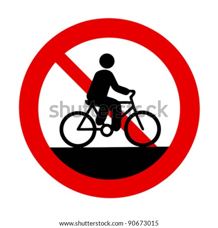 No bicycles allowed sign - stock vector