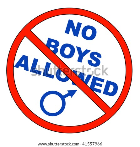 no boys allowed with male symbol - vector - stock vector