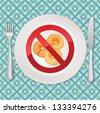 No bread - gluten free icon vector illustration - stock vector