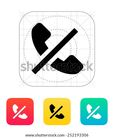 No call icon. Vector illustration. - stock vector