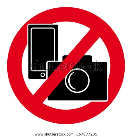No Camera Mobile Phone Symbol On Stock Vector Royalty Free