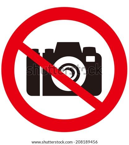 No camera vector sign  - stock vector