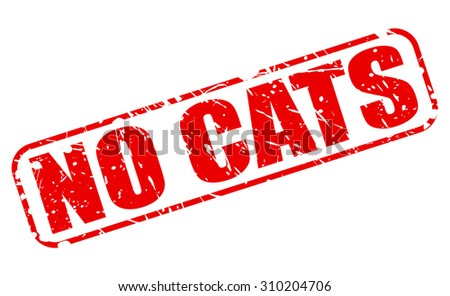 No cats red stamp text on white - stock vector