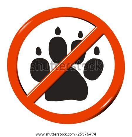 No dog - stock vector