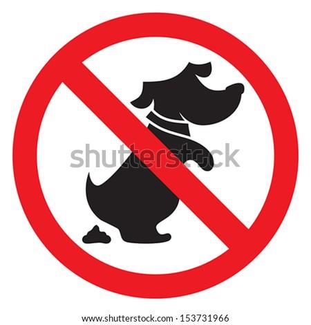 no dog poo sign - stock vector