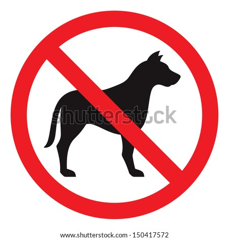 No dog sign, vector illustration - stock vector