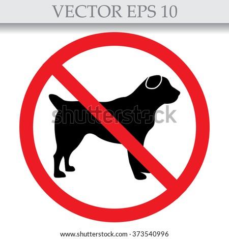 No dog sign, vector illustration  - stock vector