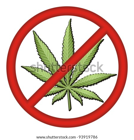 No Drugs Sign vector - stock vector