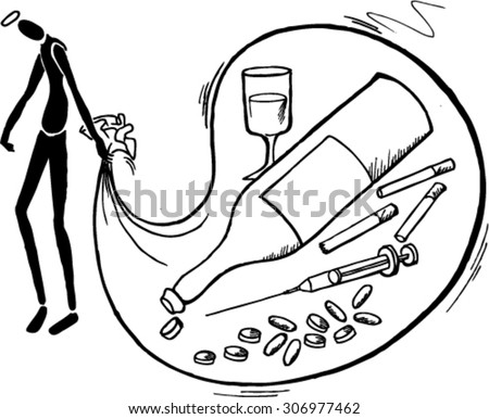 Drugs and alcohol stock images royalty free images for Anti drug coloring pages