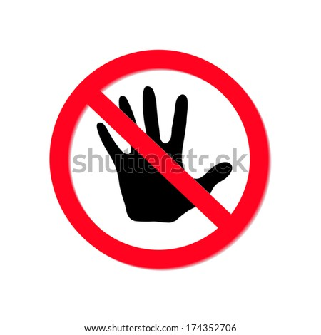 No entry sign isolated on white background, vector eps10 illustration - stock vector
