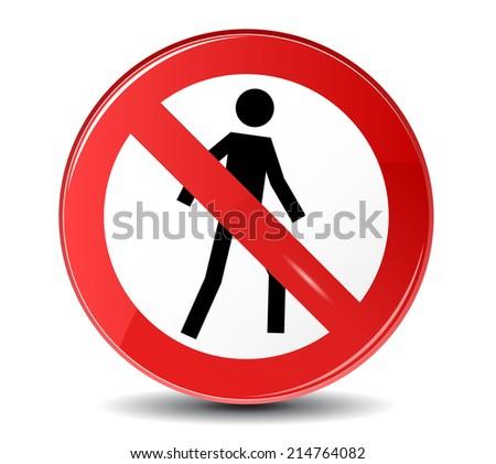 No entry vector sign. - stock vector