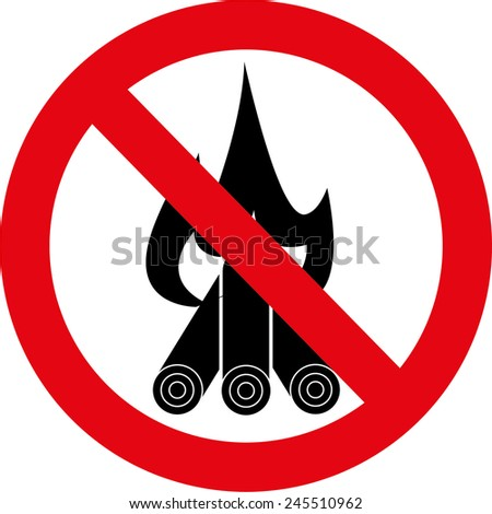 No fire sign - stock vector